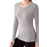 SMARTWOOL Women's NTS Micro 150 Pattern Crew silver gray heather